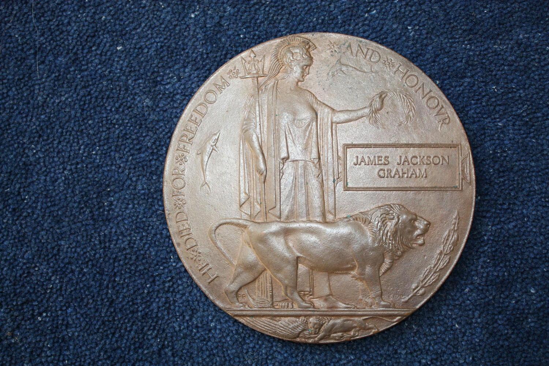 WW1 British Death Plaque: James Jackson Graham.