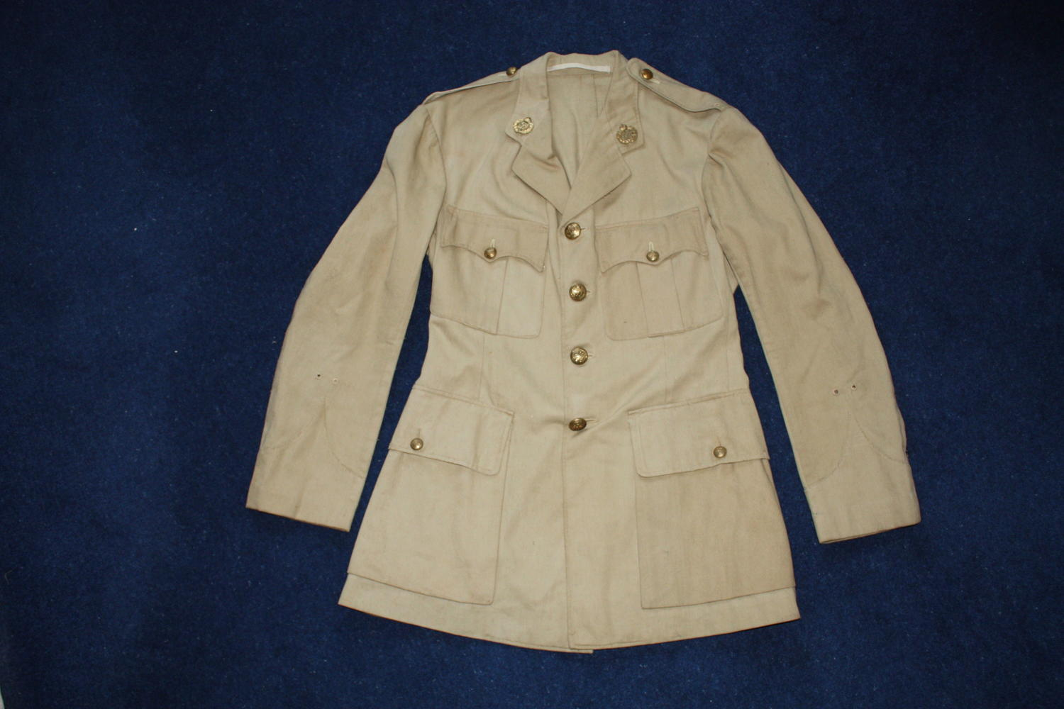 INTER WAR BRITISH OFFICERS KHAKI DRILL COTTON TUNIC : INDIAN ARMY