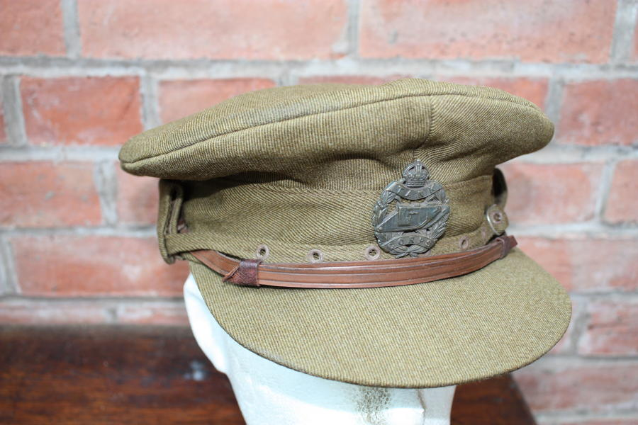 WW1 BRITISH TANK CORPS OFFICER'S 'COR BLIMEY' CAP