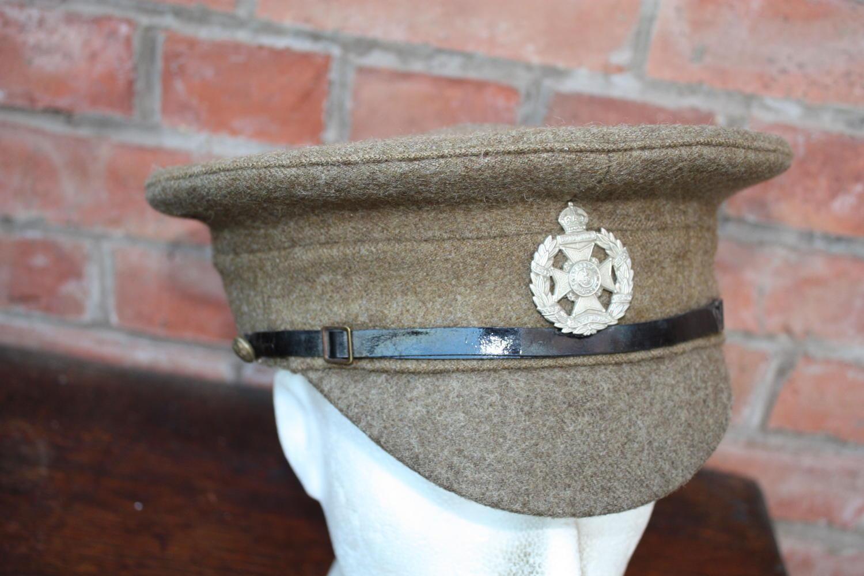 BRITISH WW1 1905 PATTERN OTHER RANKS KHAKI SERVICE DRESS CAP