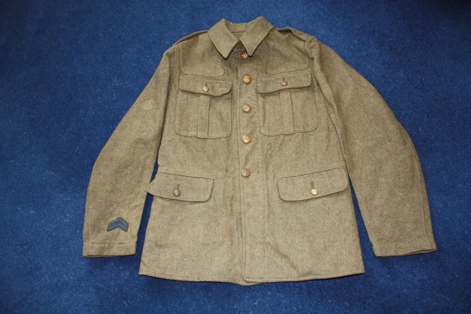 WW1 BRITISH OTHER RANKS TUNIC TO THE ARMY ORDNANCE CORPS AOC