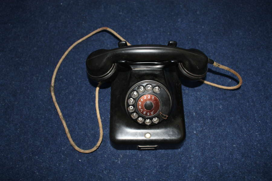 WW2 RAF DEBDEN Battle of Britain Airfield Black Bakelite Telephone.