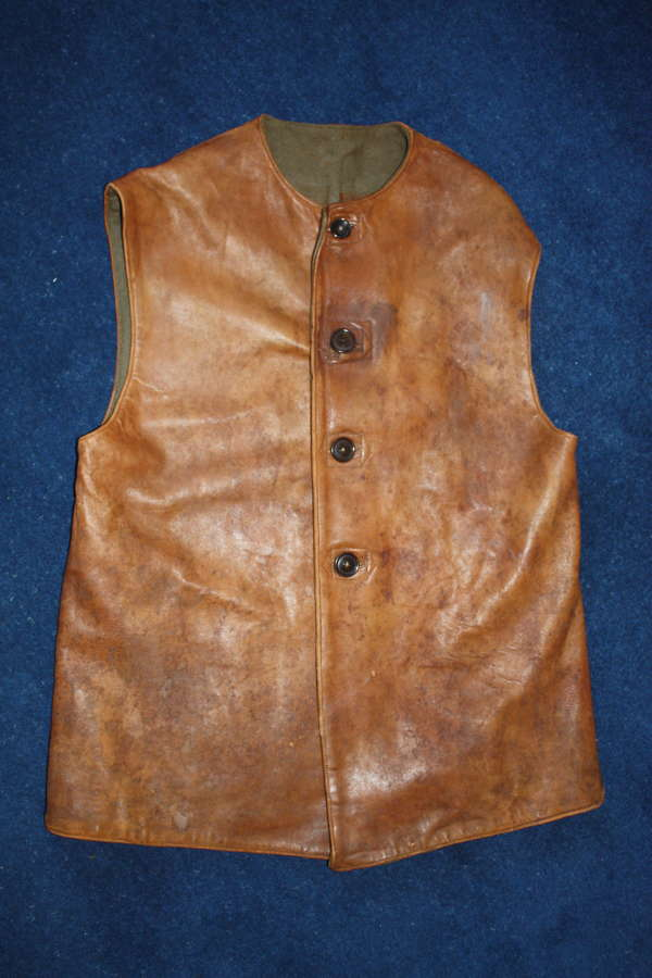 WW2 BRITISH ARMY LEATHER JERKIN