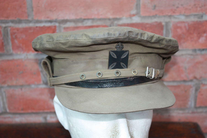 WW1 NAMED PADRE BRITISH OFFICER'S 'COR BLIMEY' CAP