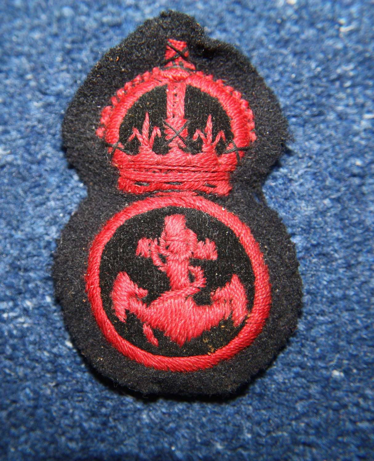 WW1 / WW2 Royal Navy Embroidered Ratings cap badge