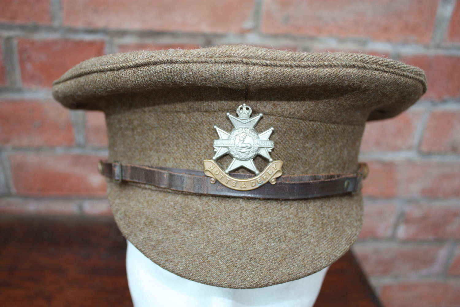 BRITISH WW1 1905 PATTERN OTHER RANKS KHAKI SERVICE DRESS CAP