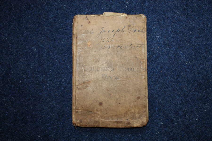 WW1 BRITISH ARMY SOLDIERS SMALL BOOK JOSEPH HANKS KIA WORC REGIMENT