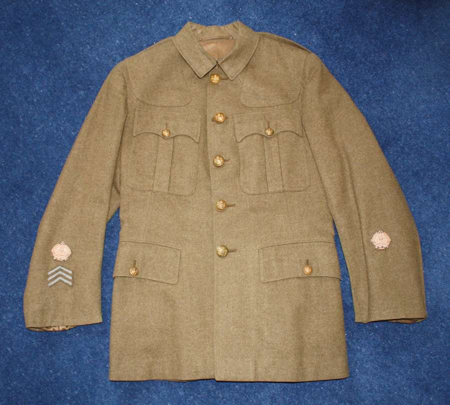 1902 PATTERN BRITISH WW1 WARRANT OFFICERS SERVICE DRESS TUNIC