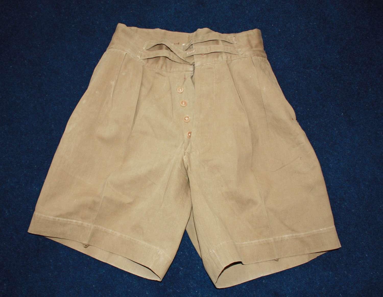 WW2 British Officers Khaki Drill KD Shorts