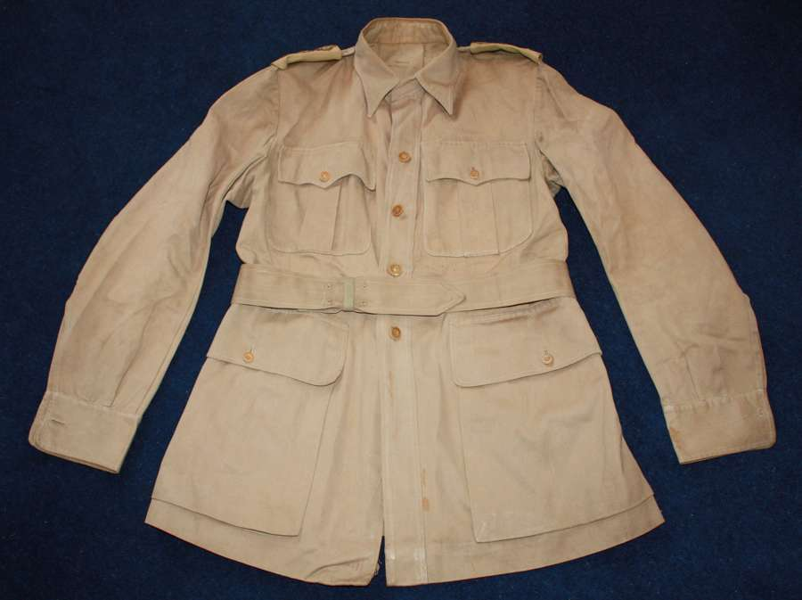 WW2 British Officers Khaki Drill KD Bush Jacket