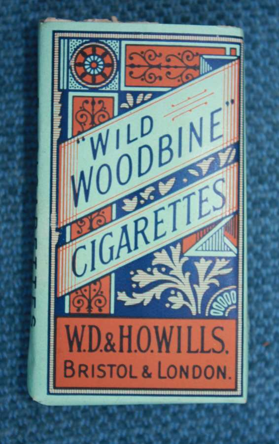 WW1 /WW2 Original packet of five Wild Woodbine Cigarettes