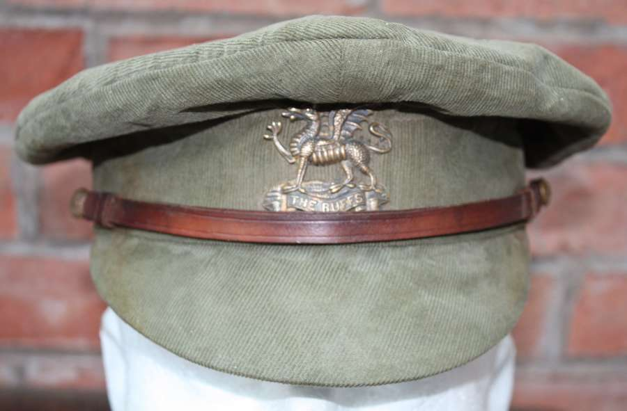 WW1 BUFFS REGIMENT: BRITISH OFFICERS FLOPPY STYLE KHAKI TRENCH CAP