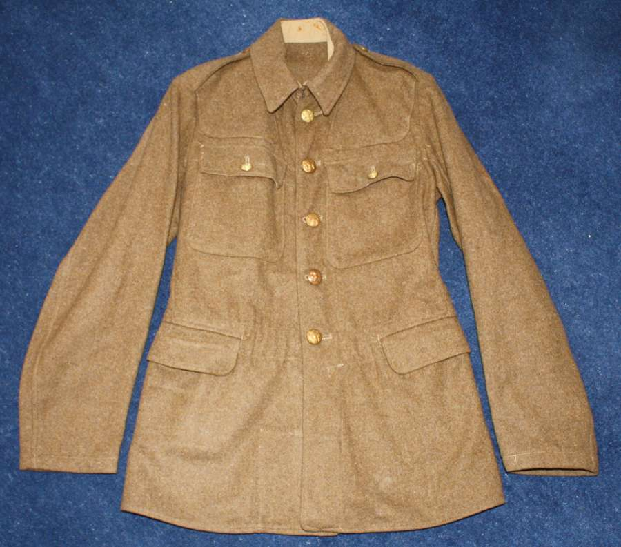 1922 PATTERN BRITISH KHAKI SERVICE DRESS TUNIC