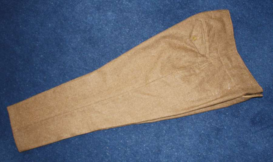 British Army Khaki Service Dress Trousers post WW2