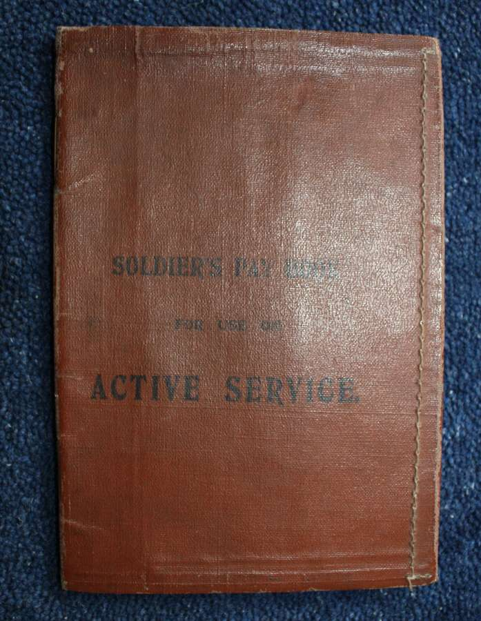 WW1 British Army Service & Pay Book: Argyll & Sutherland Highlanders