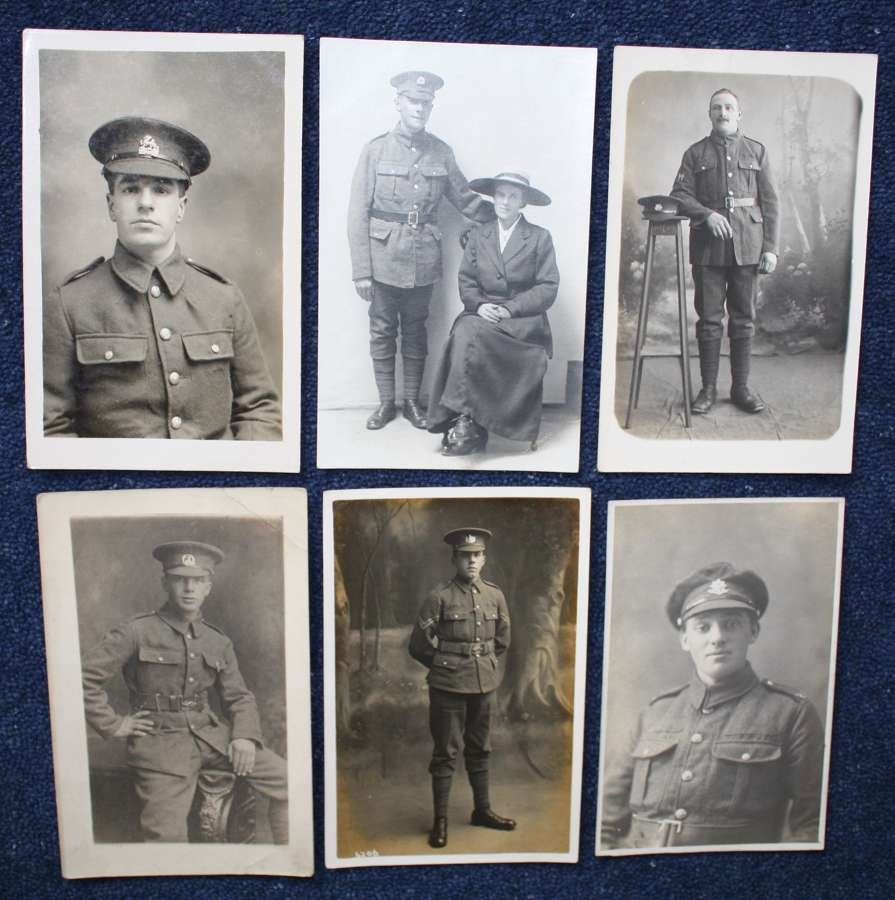 WW1 Six (6) Photographs of British Army Soldiers