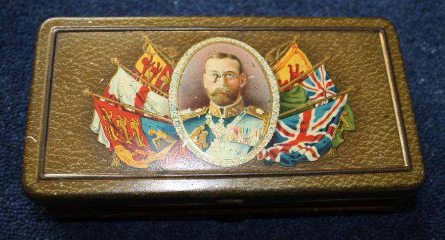 WW1 Rowntree's of York Chocolate tin with match striker 1915
