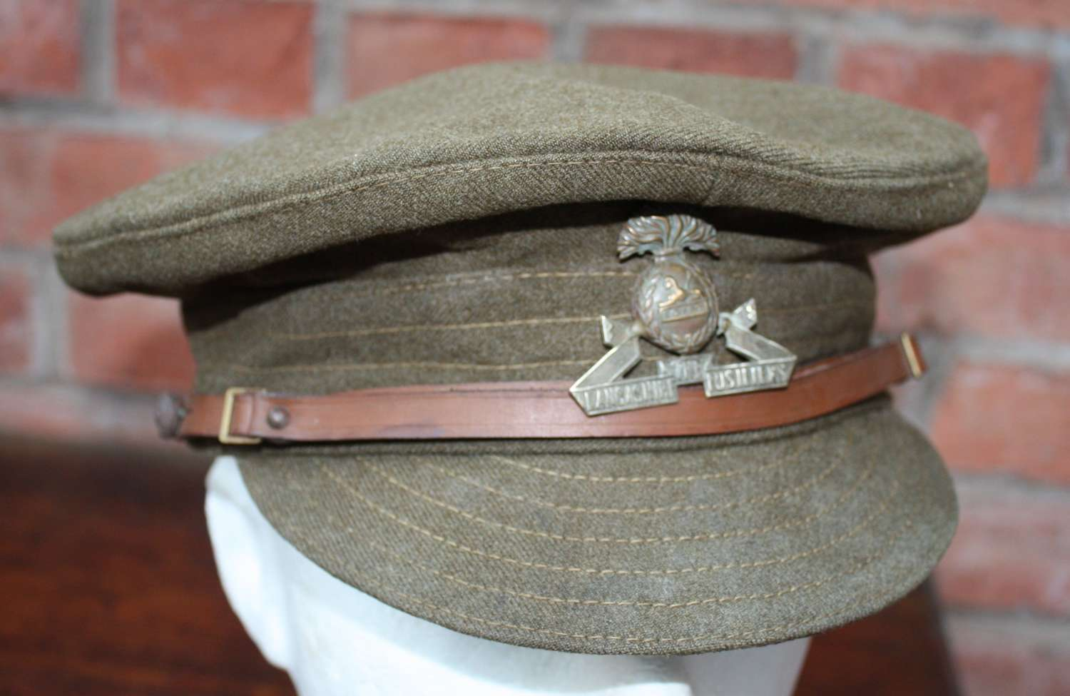 BRITISH 1918 DATED WW1 OTHER RANKS WOOL TRENCH CAP LANCASHIRE FUSILIER