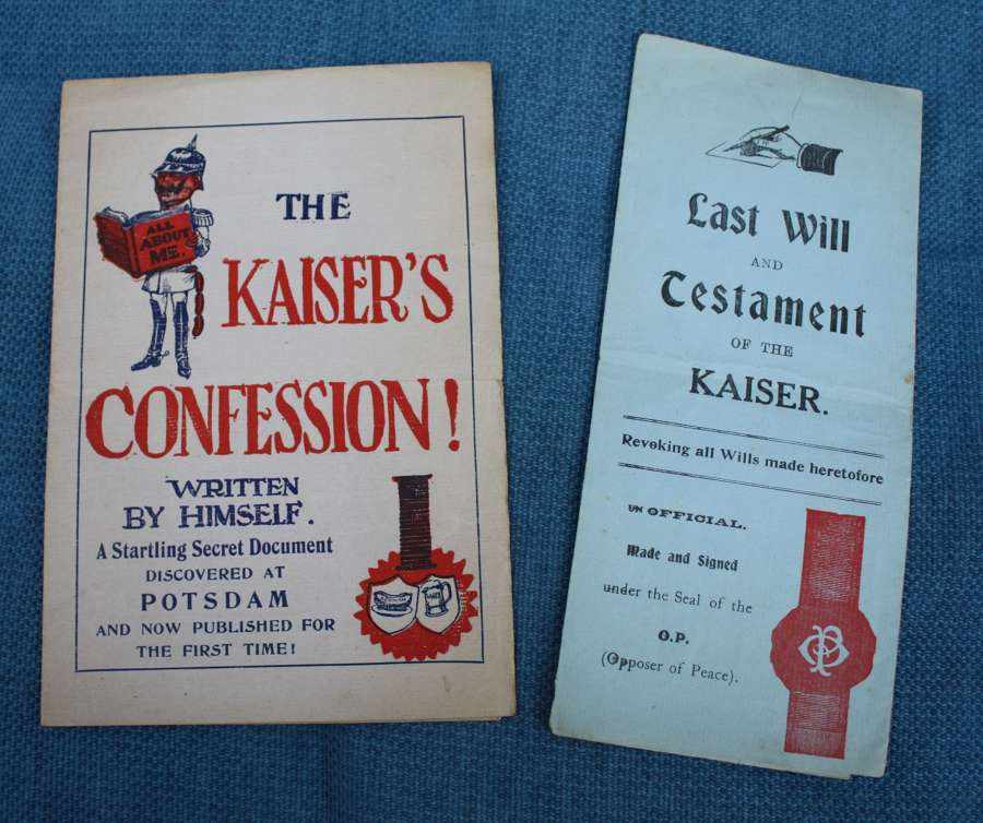 WW1 HUMOUR KAISER'S WILL, TESTAMENT & CONFESSION