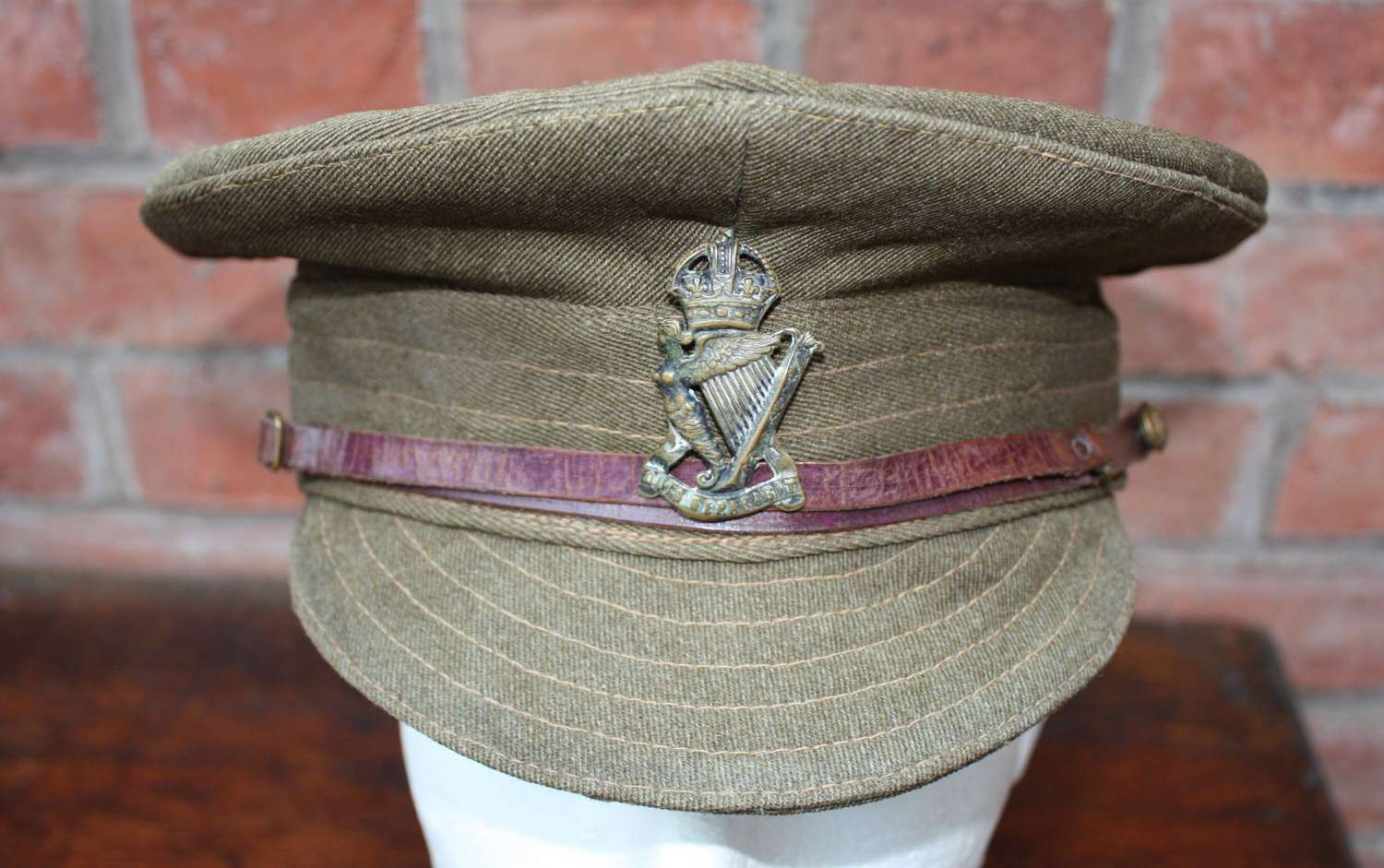BRITISH WW1 OTHER RANKS DENIM TRENCH CAP: ROYAL IRISH RIFLES