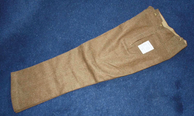 British Army Khaki Service Dress Trousers Pre WW2 1938 dated.