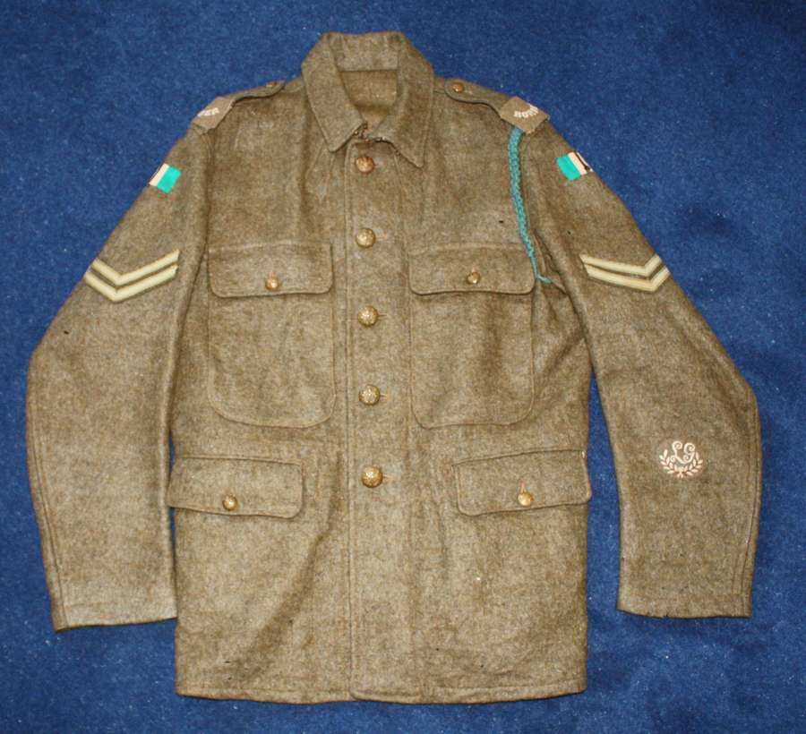RARE 1902 PATTERN SIMPLIFIED BRITISH WW1 SERVICE DRESS TUNIC 1915 DATE