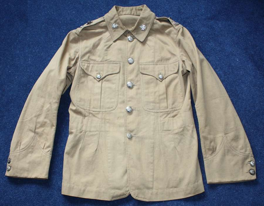 BOER WAR ERA BRITISH ARMY OFFICERS KHAKI DRILL TUNIC RARE & ORIGINAL