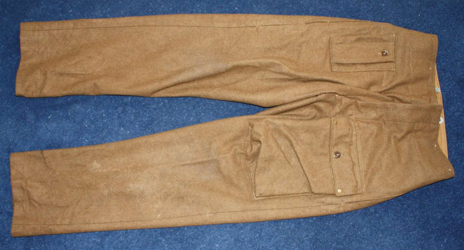 Very Rare 1942 Dated WW2 British Parachute/Airborne Troopers Trousers