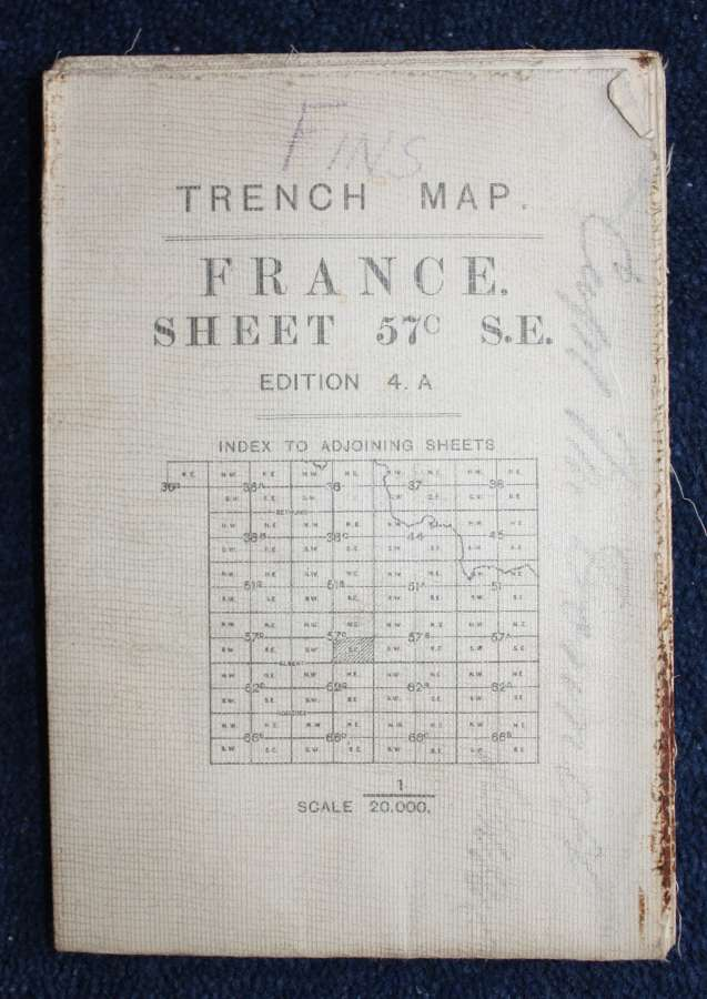 WW1 British Army Trench Map France: 57C SE Gouzeaucourt 11th May 1917