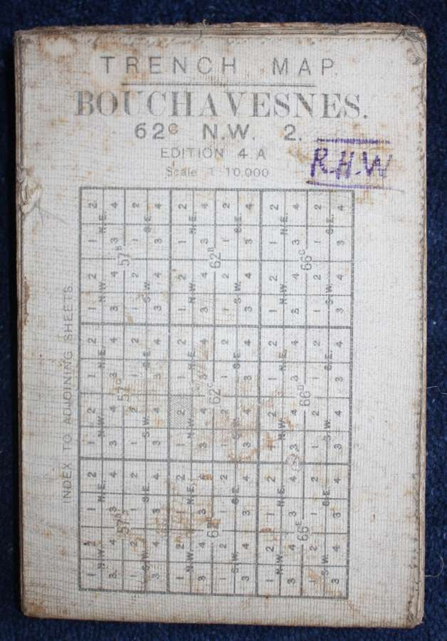 WW1 British Army Trench Map France: 62C NW Bouchavesnes 8th Jan 1917