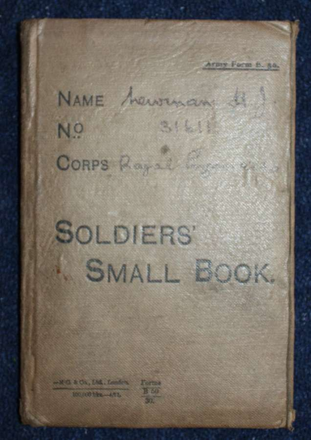 WW1 British Army Soldiers Small Book: Royal Engineers. H J Newman