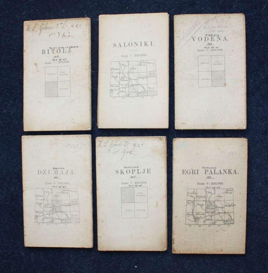 Six WW1 1915 Salonika Campaign Maps; Ist York & Lancaster Regiment