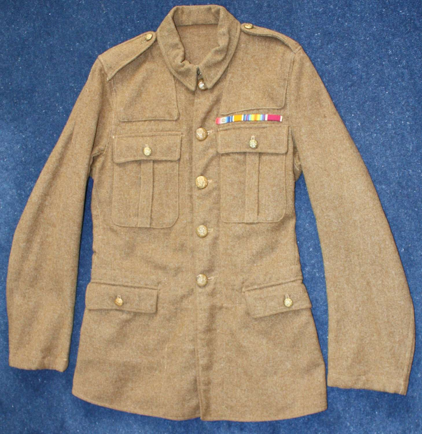 1902 PATTERN BRITISH ARMY LATE WW1 SERVICE DRESS TUNIC