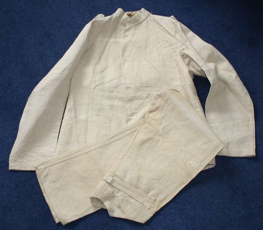 EARLY WW1 ROYAL MARINES FATIGUE / WORKING DRESS TUNIC & TROUSERS