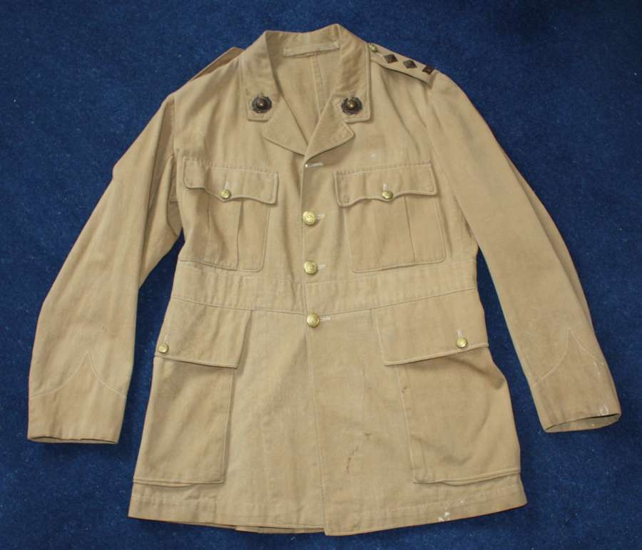 WW1 ROYAL MARINE OFFICERS KHAKI DRILL TUNIC