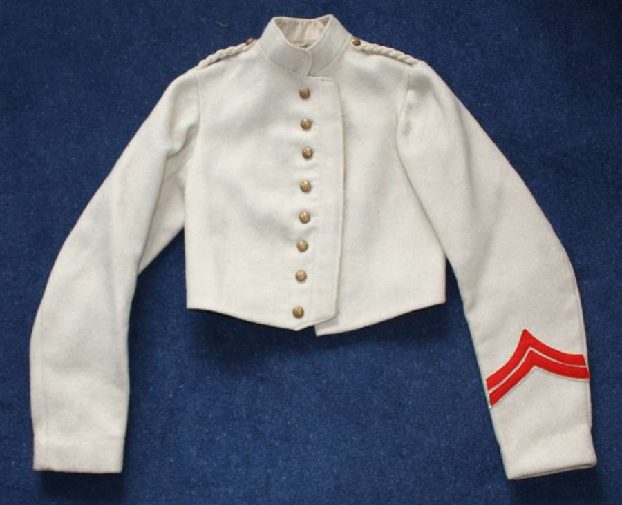 Gordon Highlanders pre WW1 White Wool Undress Drill / Shell Jacket