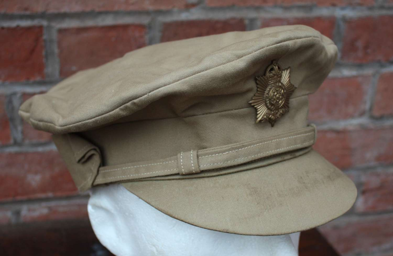 WW1 BRITISH OFFICERS GOR BLIMEY CAP KHAKI DRILL HAMPSHIRE REGIMENT