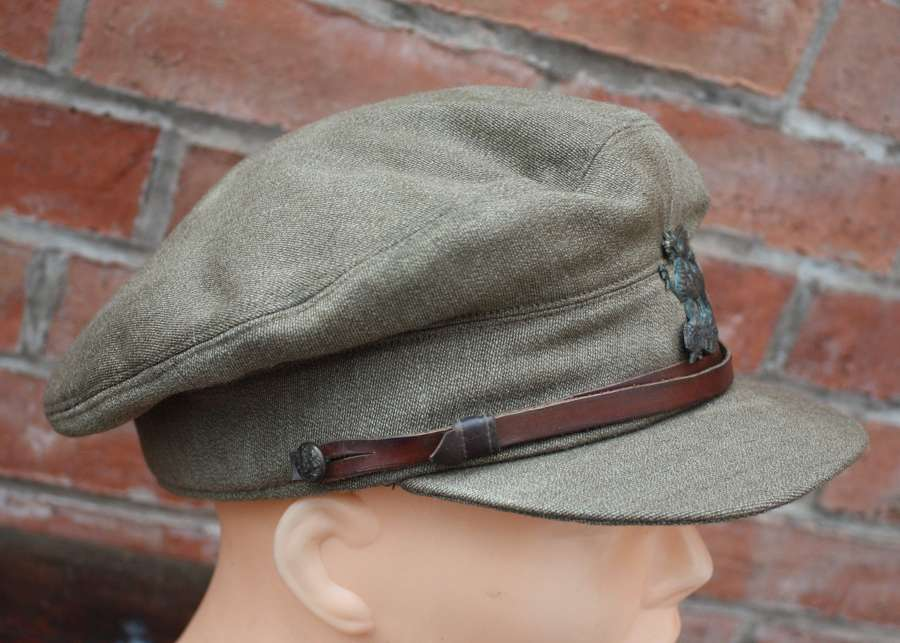 WW1 'BUFFS' EAST KENT BRITISH OFFICERS FLOPPY STYLE KHAKI TRENCH CAP