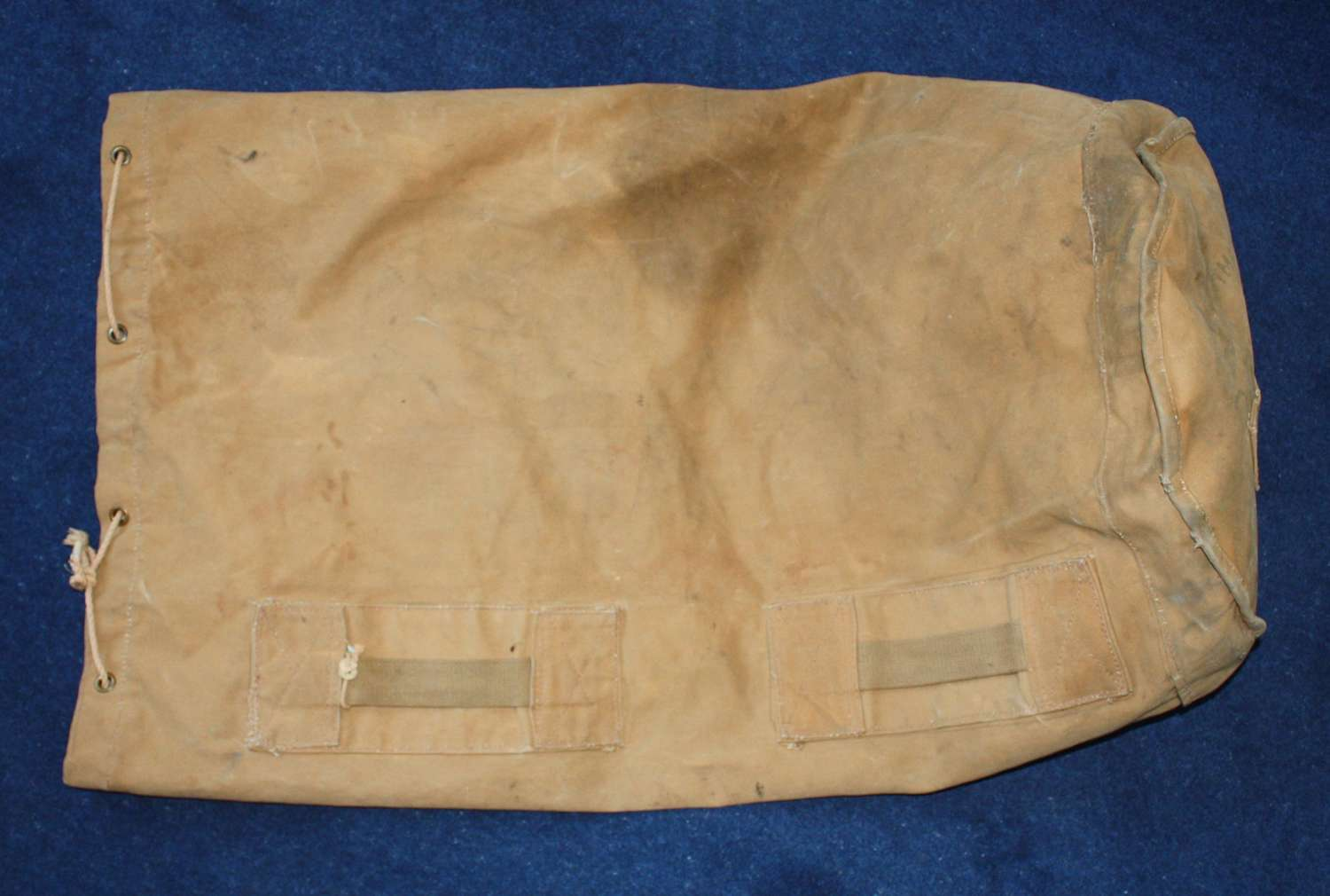 Large WW1 Canvas Kit Bag. Stamped ME Co 1916 Royal Navy