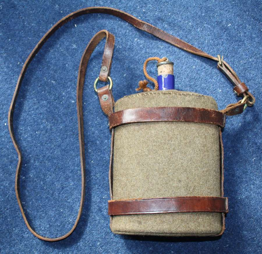 British Army 1903 Pattern Water Bottle & Leather Carrier