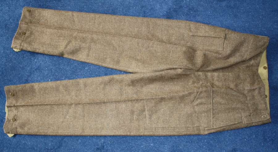 WW2 1945 CANADIAN BATTLE DRESS TROUSERS HEIGHT 5 FEET 10 INCHES