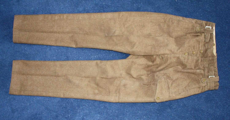 POST WW2 KHAKI 1949 PATTERN BATTLE DRESS TROUSERS HEIGHT 6 FEET