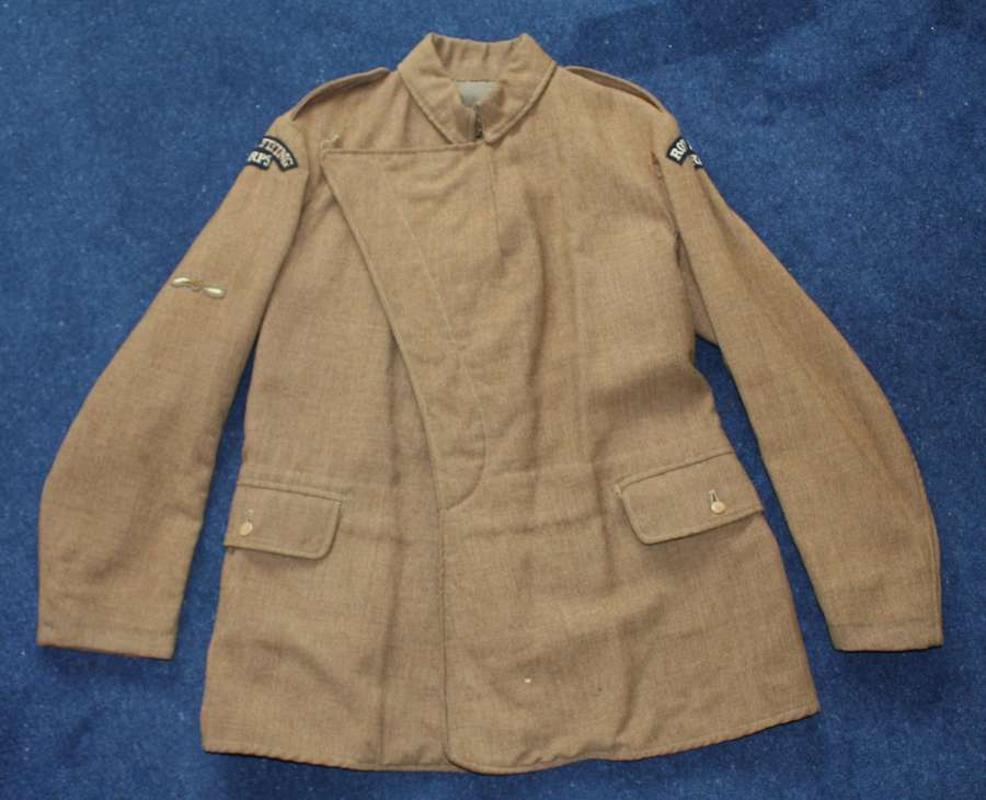 ORIGINAL WW1 KHAKI MATERNITY ROYAL FLYING CORPS) OTHER RANKS TUNIC RFC