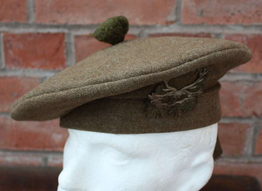 WW1 SEAFORTH HIGHLANDERS WW1 SCOTTISH KHAKI TAM O SHANTER