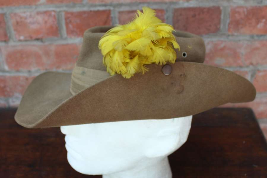 1944 Dated British made WW2 Slouch Hat to the Lancashire Fusiliers