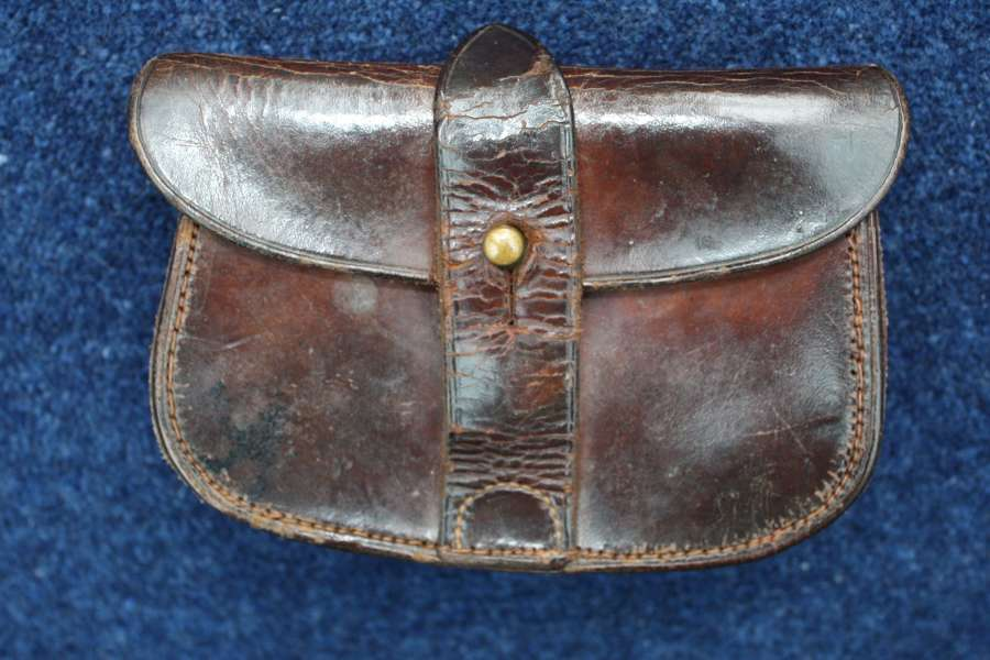 WW1 OFFICERS WEBLEY LEATHER AMMUNITION POUCH