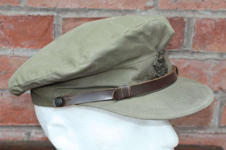 WW1 British Officers 'Floppy' Style Khaki Trench Cap: West Riding