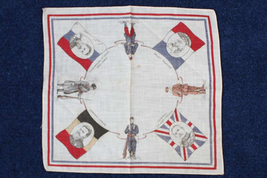 Early WW1 1914-15 printed souvenir handkerchief of allied countries