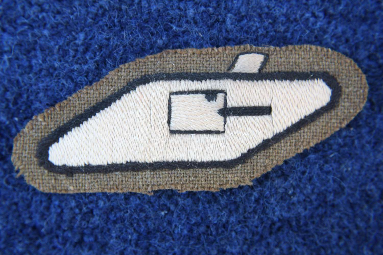 British WW1 Tank Corps Rare Original Officers Cloth Arm Badge.