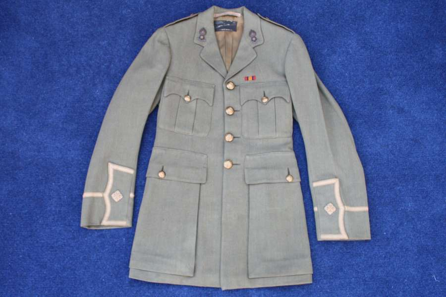 WW1 BRITISH ARMY CUFF RANK TUNIC TO ROYAL ENGINEERS 2nd LIEUTENANT